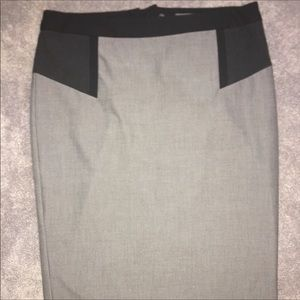 Donna Rico Gray/Black A-Line skirt w/lining